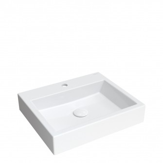 countertop/wall-mounted basin Marble+, 50 x 42 cm
