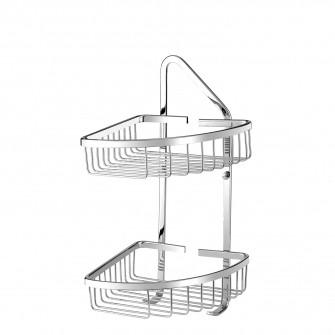 corner shower basket, 19 x 19 x 43 cm