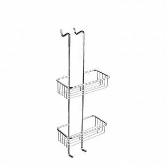 hanging shower basket, two-tier, 26 x 70 x 13 cm
