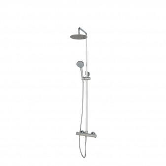 thermostatic shower system for exposed installation
