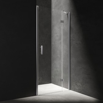 hinged shower door, 120 cm