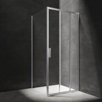 kabina prysznicowa prostokątna z drzwiami przesuwnymi, 100 x 90 cm