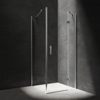 rectangular shower enclosure with hinged door, 80 x 90 cm