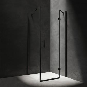 kabina prysznicowa prostokątna z drzwiami uchylnymi, 100 x 90 cm