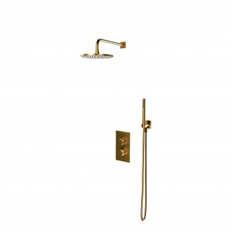 thermostatic shower system for concealed installation