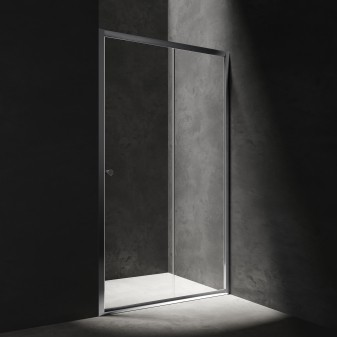 sliding shower door, 140 cm