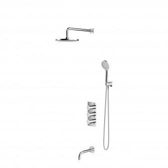 thermostatic bath system for concealed installation