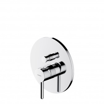 shower/bath mixer for concealed installation, chrome
