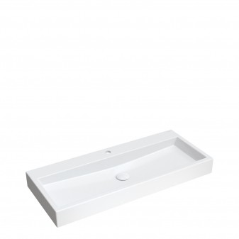 countertop/wall-mounted basin Marble+, 100 x 42 cm