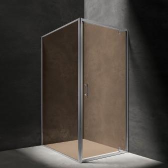 kabina prysznicowa prostokątna z drzwiami uchylnymi