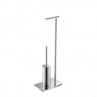 free standing toilet roll holder with toilet brush set