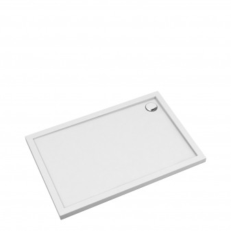 acrylic rectangular shower tray, 80 x 120 cm