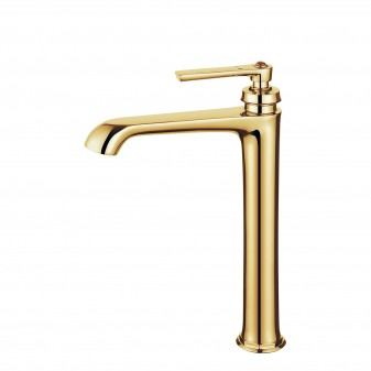tall basin mixer with click-clack waste