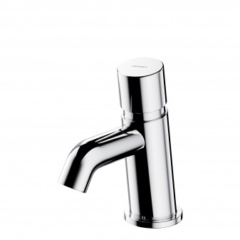self-closing basin mixer