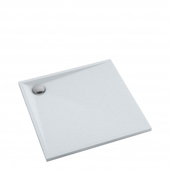 slate-effect square shower tray, 80 x 80 cm