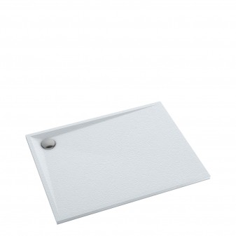 slate-effect rectangular shower tray, 80 x 100 cm