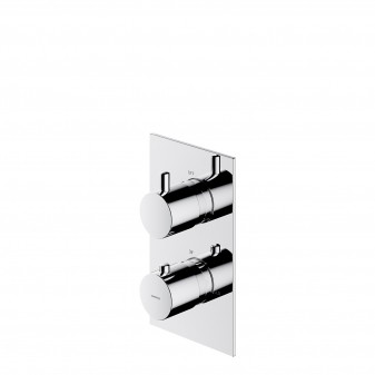 thermostatic shower/bath mixer for concealed installation, excluding built-in part