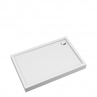 acrylic rectangular shower tray, 90 x 120 cm