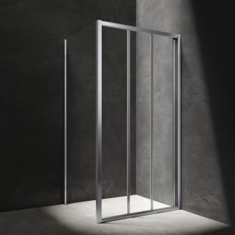 kabina prysznicowa kwadratowa z drzwiami przesuwnymi, 90 x 90 cm