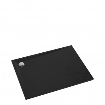 slate-effect rectangular shower tray, 90 x 120 cm