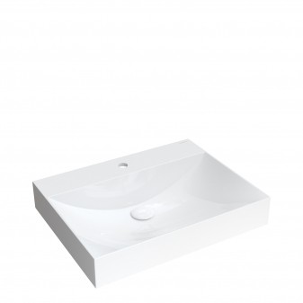 countertop/wall-mounted basin Marble+, 60 x 46 cm