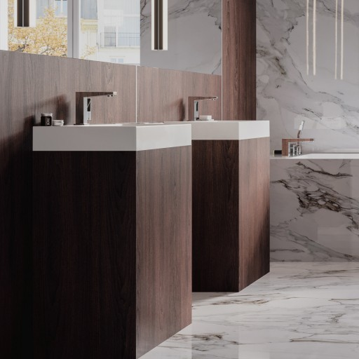 countertop/wall-mounted basin Marble+, 70 x 42 cm
