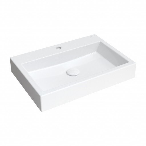 countertop/wall-mounted basin Marble+, 60 x 42 cm